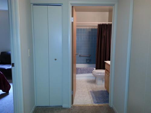 Entry to Bathroom/Linen Closet