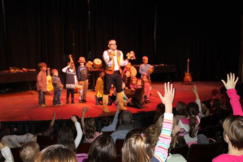 Guy Louis Entertains during MBT's Children's Series. The Children's Series Continues February 28, March 21, April 4 and June 9 This year! www.mbtheatre.com for more info!