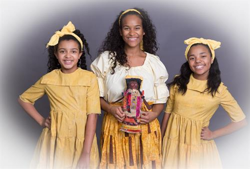 """Once On This Island"" will feature two little girls from Detroit Alternating in the Role of Little Ti Moune. L to R: Makayla Annaleese Flowers, Darilyn Castillo & Jada Marie Sanders"