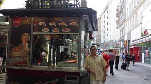 Sausage cart in Vienna