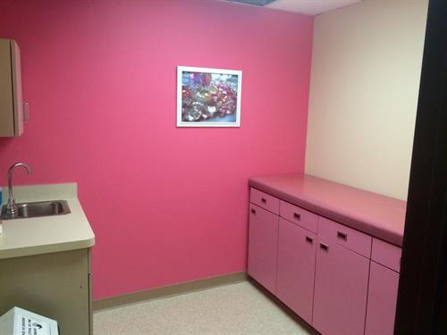 Pink Patient Room