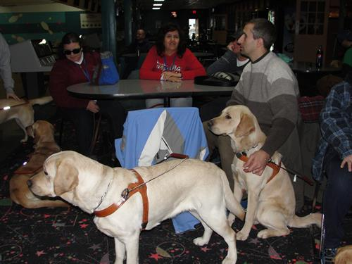 The Leader Dog Schooll comes to bowl.