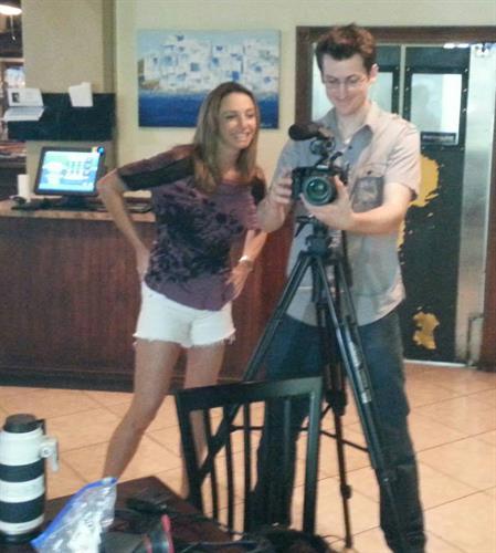 Marnie & Brian Filming