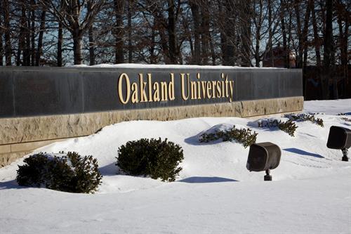 Oakland University signage