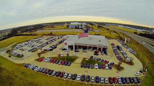 Aerial View - Hudson Toyota Chrysler Dodge Jeep Ram - Exit 44 Pennyrile Pkwy.