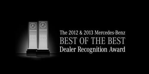 MBUSA Best of the Best dealership award