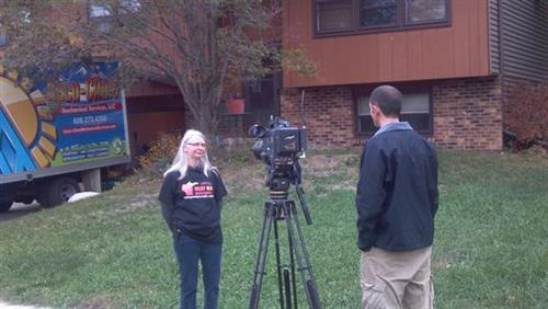 Cheryl being interviewed by NBC 15 on October 6th, 2012.  Cheryl was a recipient of a new furnace and installation from Lennox Industries and Accu-Clime Mechanical Services LLC of Middleton as part of the Heat Up Wisconsin program.