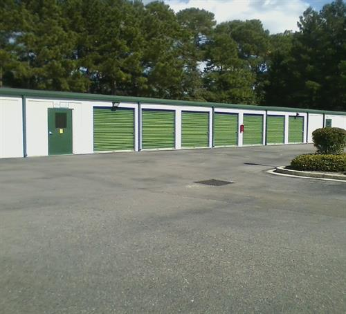 Drive Up Units with Entrance Door to Climate Controlled Building