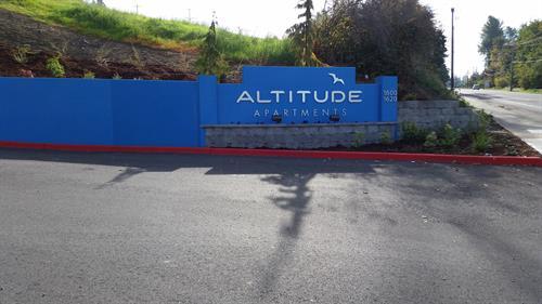 1600 and 1620 Altitude address signage