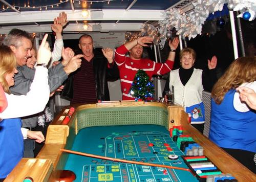 Party on the craps table!