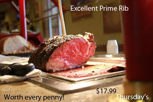 Tasty Prime Rib on Thursday