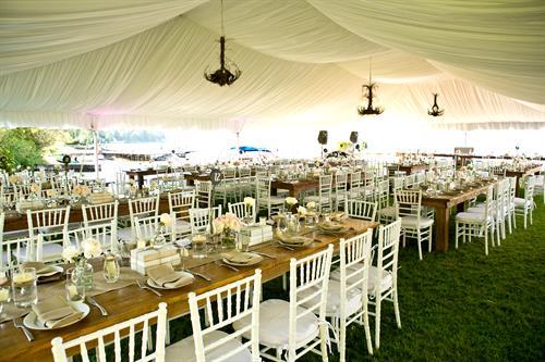 Frame Tent with Liner - White Chiavaris