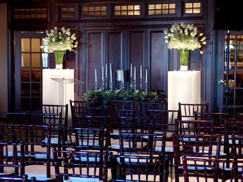 Mahogany Chiavari Wedding Ceremony