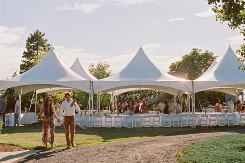 Marquee Tents with White Resin Chairs