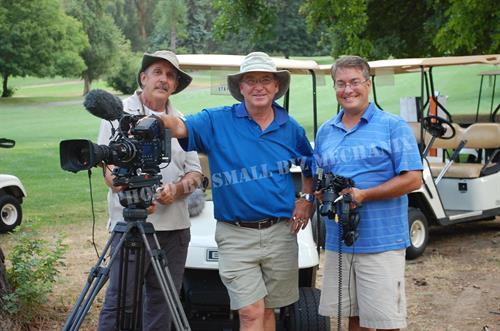 Dave with Bob & Eric - PGA Film Crew as they wrap up filming a day with PGA Teacher Kathy Jensen.