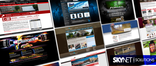 "Website Design, Development and Maintenance. Visit ""Our Work"" on our website to see more live website examples."