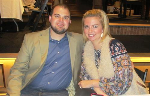 2016 President Ryan Stanger, with his wife, Sarah.