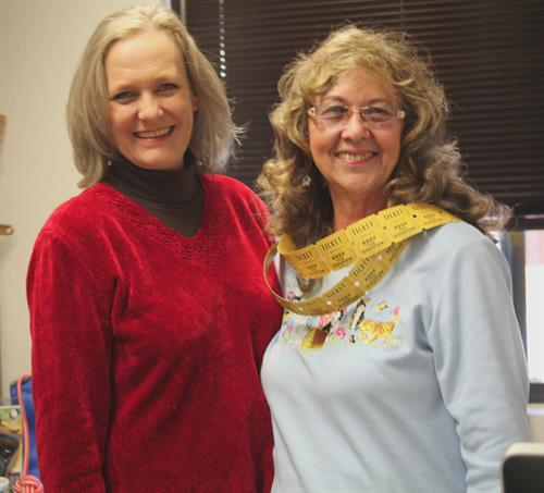 Niki (Executive Director) and Judy (Board President) at Open House