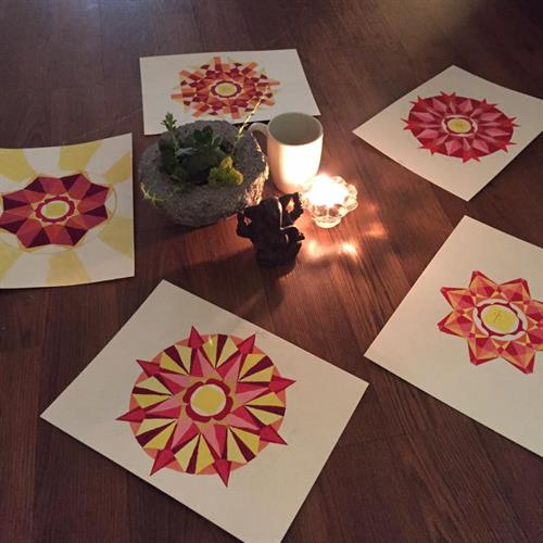 Workshop on Chakra painting