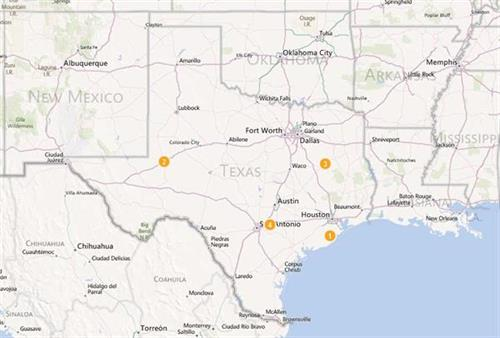 We have 4 locations in Texas