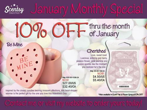 Be Mine & Cherised - January 2016 Warmer & Scent of the month