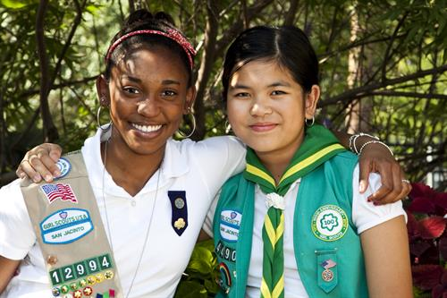 Making lifelong friends is a Girl Scout tradition.