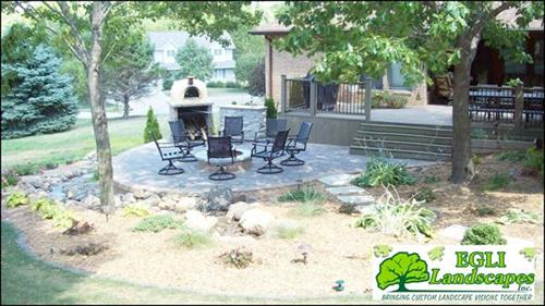 Landscape, Patio, Pizza Oven, Firepit, Pondless Water Fall