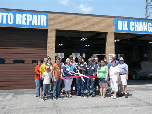 Ribbon cutting at new location