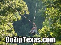 New York, Texas ZipLine Adventures 100 ft. above the ground!