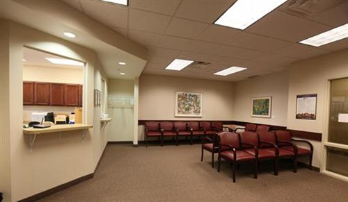 We have two waiting areas for when your child is sick and healthy.