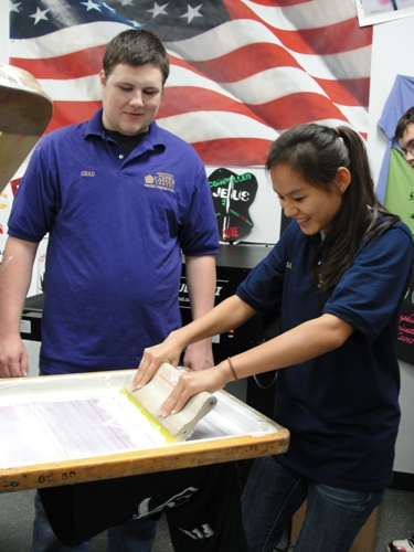 Graphic Communications students offer silk screening and printing services to the public.