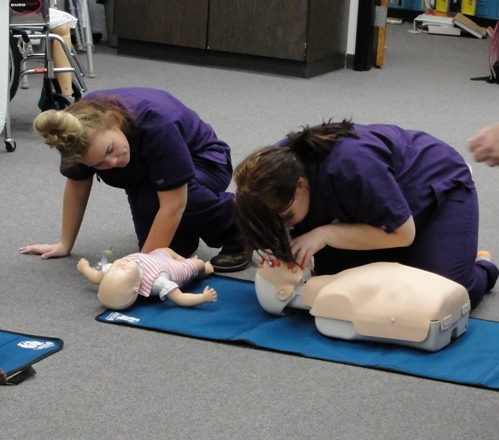Students in Health Technologies Cluster earn several certifications including CPR.