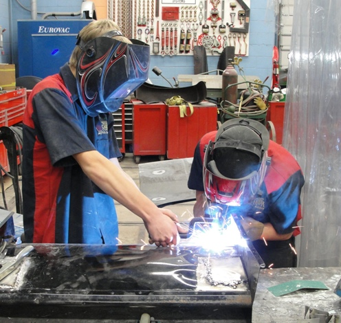 Students in Auto Body Technology learn skills that will help them enter the workforce.