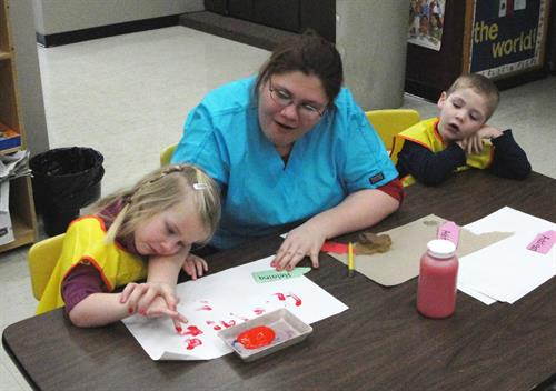 Students in the Early Childhood Education program offer a preschool experience to children in the community.