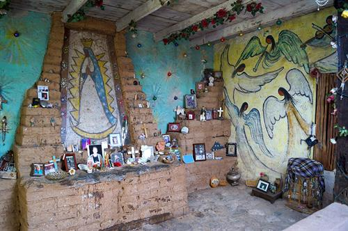 Mission in the Sun's Guadalupe altar.