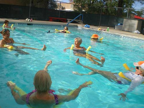 Swim lessons and group swim are fun at the Y!