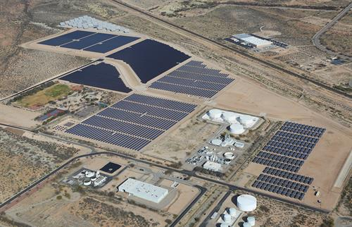 The Solar Zone at the UA Tech Park - the nation's largest multi-testing, multi-demonstration solar energy site.