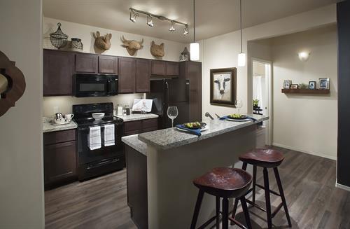Kitchen in One Bedroom Model