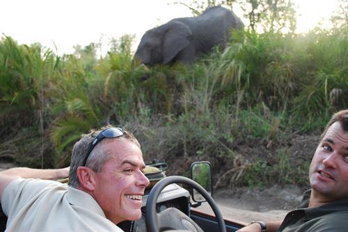 Terry von Guilleaume on safari in Krueger!