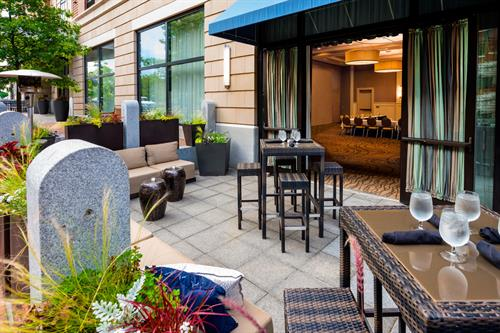 Enjoy cocktail hour, al fresco on our patio.