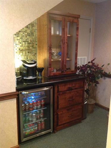 Coffee Bar in Reception Area