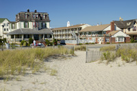 Stockton Inns from the Beach