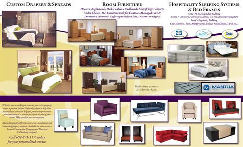 2014 Mailer Grosfillex, EMU, Windward Design, Brookline, AC Furniture, Flexsteel, Axiom 1, Eaton Seating, CleanRestPro Products,