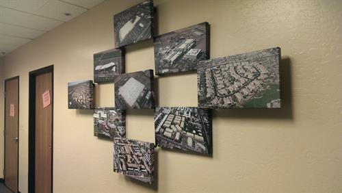 These are canvas gallery wraps in a client's board room