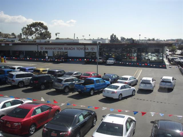 A view of Manhattan Beach Toyota Scion's lot.