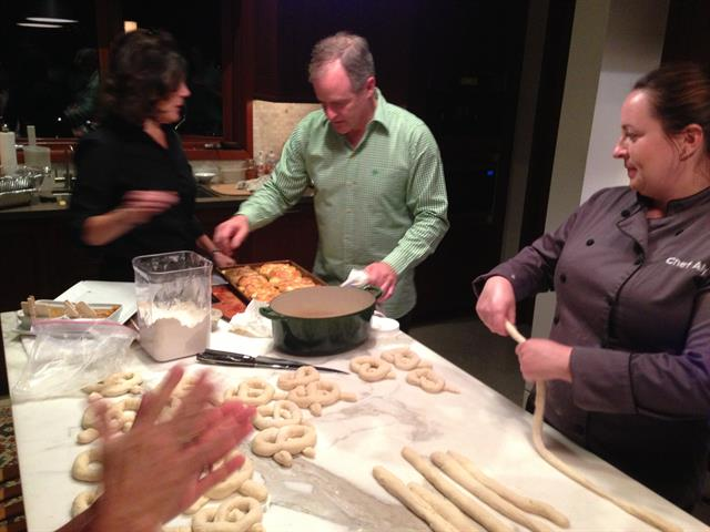 MAKING HOME MADE PRETZELS FOR OCTOBERFEST PARTY