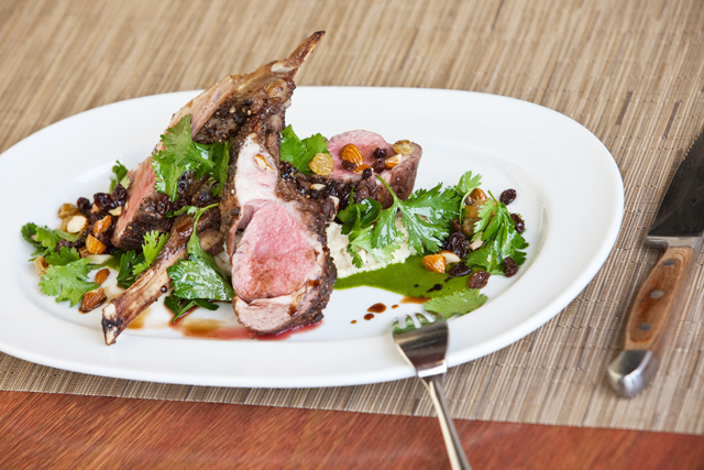 Grilled Rack of Australian Lamb
