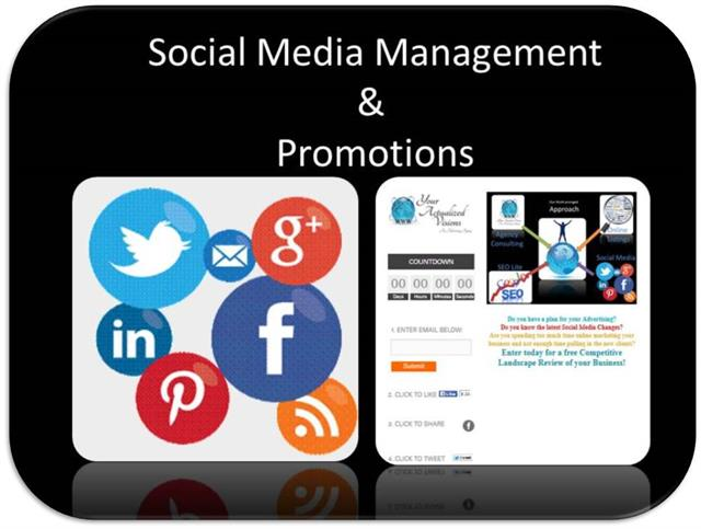 Social Media Management and Promotional Pages