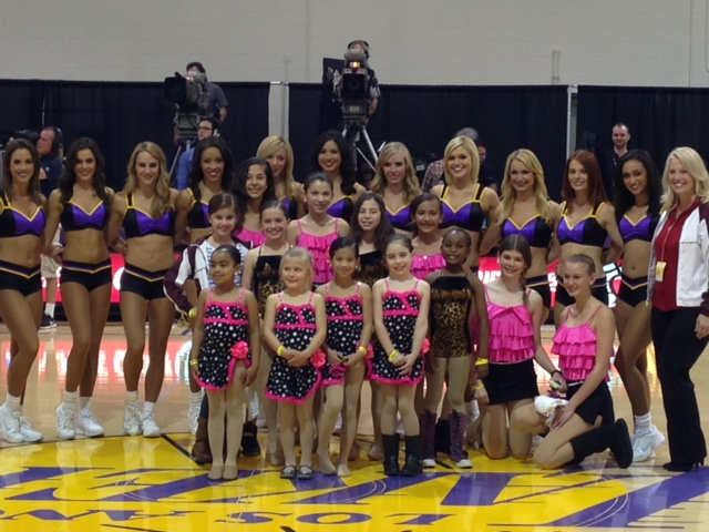 Perform at Halftime......then meet the Laker Girls