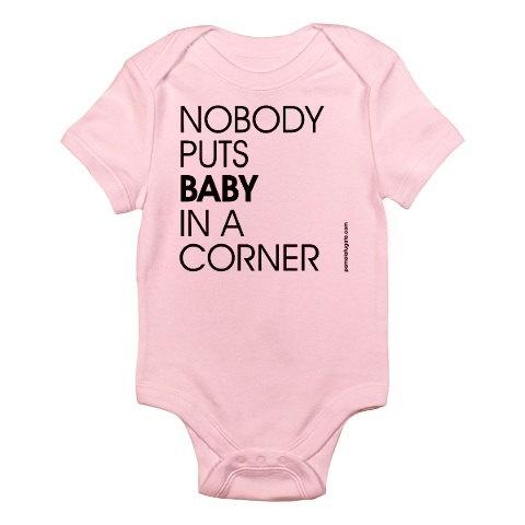 "One piece ""Baby in the Corner"" white only"